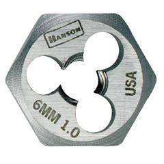 IRW585-6327 - IrwinHigh Carbon Steel Metric Hexagon Dies