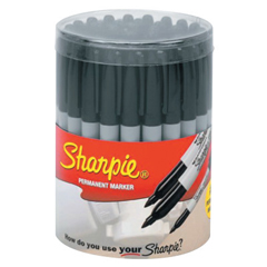 SAN652-30051SH - Sanford36-Piece Sharpie Canisters, Black, 36 Per Canister
