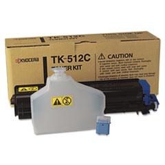 KYOTK512C - Kyocera TK512C Toner, 8000 Page-Yield, Cyan