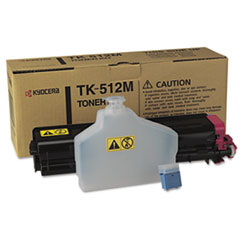 KYOTK512M - Kyocera TK512M Toner, 8000 Page-Yield, Magenta