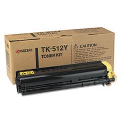 KYOTK512Y - Kyocera TK512Y Toner, 8000 Page-Yield, Yellow