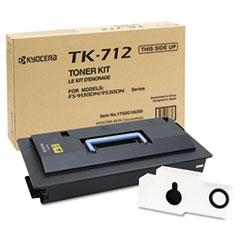 KYOTK712 - Kyocera TK712 Toner, 40000 Page-Yield, Black