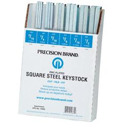 PRB605-14680 - Precision BrandSquare Zinc Plated Steel Keystock Assortments