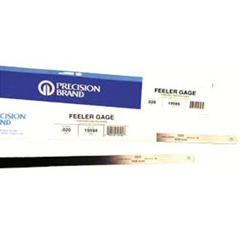PRB605-19235 - Precision BrandFlat Length Steel Feeler Gauges