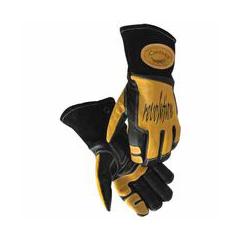 ORS607-1832-L - CaimanRevolution II Cow-Grain Welding Gloves, Black/Gold, Large