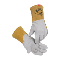 ORS607-1864-L - Caiman - Kontour Welding Gloves, American Deerskin Leather, Large, Gray