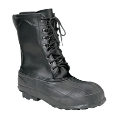 SRV617-A521-11 - ServusLeather Top Insulated Work Boots, Size 11, 10 In H, Black