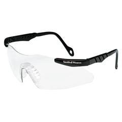 SMW138-19828 - Smith & WessonMagnum Mini Safety Eyewear, Amber Polycarbonate Anti-Scratch Lenses, Black Frame