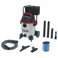 RDG632-50353 - RidgidStainless Steel Wet/Dry Vac With Cart Model 1610Rv, 16 Gal, 6.5 HP