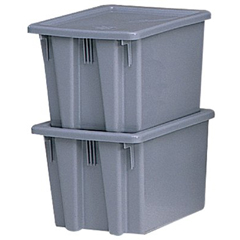 RCP640-1721-GRAY - Rubbermaid CommercialStack & Nest Palletote® Boxes
