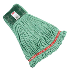 RCP640-A252-06-GR - Rubbermaid CommercialWeb Foot Shrinkless Wet Mops, Medium, Cotton/Synthetic, 5 In