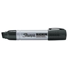 SAN652-44001 - Sanford - King Size Permanent Markers, Black, Chisel