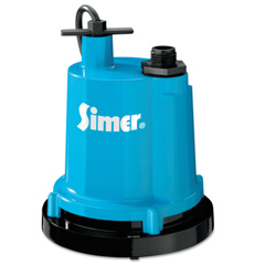 ORS663-2300-04 - Simer Pumps1/4HP Thermoplastic Portable/Submersible Utility Pumps,Cast Aluminum,1,320 Gal/H