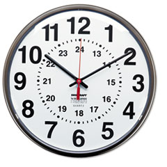 NSN3428199 - AbilityOne™ 12/24 Hour Wall Clock