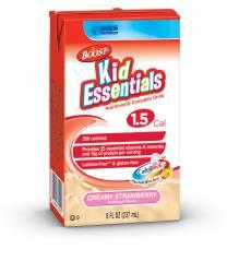 MON33592601 - Nestle Healthcare NutritionPediatric Oral Supplement / Tube Feeding Formula BOOST® Kid Essentials 1.5 360 Calories Creamy Strawberry 8 oz.