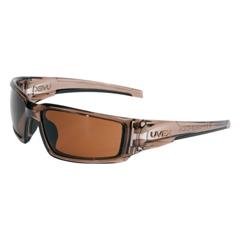 FND763-S2964 - HoneywellUvex™ Hypershock Safety Eyewear, Gold Mirror Poly Hardcoat Lenses, Smoke Brown Frame