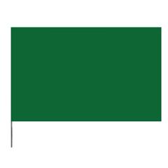 PRS764-4521G - PrescoStake Flags, 4 In X 5 In, 21 In Height, PVC/Steel Wire, Green, 1,000 Per Box