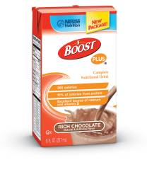 MON93232601 - Nestle Healthcare NutritionOral Supplement BOOST PLUS® Rich Chocolate 8 oz.