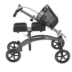 796 - Drive Medical - Dual Pad Steerable Knee Walker with Basket, Alternative to Crutches