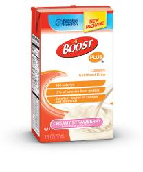 MON800904EA - Nestle Healthcare Nutrition - Oral Supplement BOOST PLUS® Creamy Strawberry 8 oz.