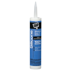 DAP802-08641 - DAPAll-Purpose 100% Silicone Rubber Sealants, 10.1 oz Canister, Clear