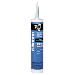 DAP802-08643 - DAPAll-Purpose 100% Silicone Rubber Sealants, 10.1 oz , Aluminum