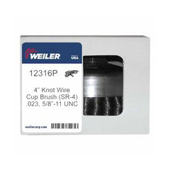 WEI804-12316P - WeilerGeneral-Duty Knot Wire Cup Brushes