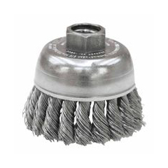 WEI804-13286 - WeilerGeneral-Duty Knot Wire Cup Brushes