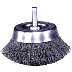 WEI804-14300 - WeilerStem-Mounted Crimped Wire Cup Brushes