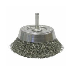 WEI804-14302 - WeilerStem-Mounted Crimped Wire Cup Brushes