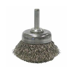 WEI804-14304 - WeilerStem-Mounted Crimped Wire Cup Brushes