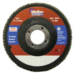 WEI804-31387 - Weiler4-1/2 Vortec Pro High Density Abrasive Flap Disc, Flat