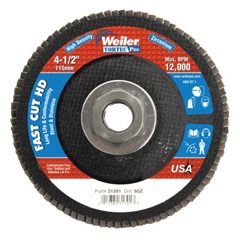 WEI804-31391 - Weiler4-1/2 Vortec Pro High Density Abrasive Flap Disc, Flat