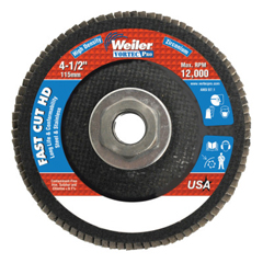 WEI804-31392 - Weiler4-1/2 Vortec Pro High Density Abrasive Flap Disc, Flat