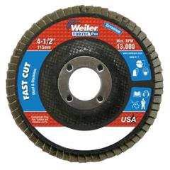 WEI804-31404 - Weiler4-1/2 X 7/8, Abrasive Flap Disc, Flat, Phenolic Backing, 8 oz