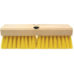 WEI804-44434 - WeilerDeck Scrub Brushes, 10 In Hardwood Block, 2 In Trim L, Polypropylene Fill