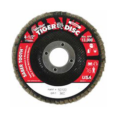 WEI804-50100 - WeilerSaber Tooth™ Ceramic Flap Discs