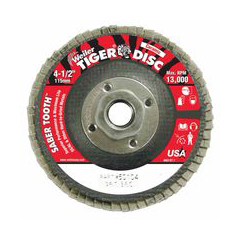 WEI804-50104 - WeilerSaber Tooth™ Ceramic Flap Discs