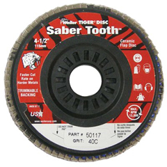 WEI804-50117 - WeilerSaber Tooth™ Trimmable Ceramic Flap Discs