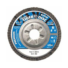 WEI804-50512 - WeilerTiger Disc™ Angled Style Flap Discs