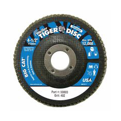WEI804-50803 - WeilerBig Cat® High Density Flat Style Flap Discs
