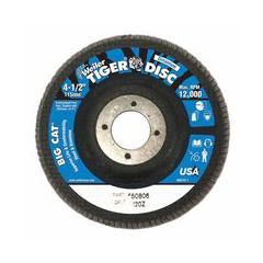 WEI804-50806 - WeilerBig Cat® High Density Flat Style Flap Discs