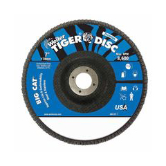 WEI804-50824 - WeilerBig Cat® High Density Flat Style Flap Discs