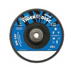 WEI804-50845 - WeilerBig Cat® High Density Flat Style Flap Discs