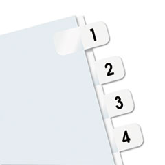 RTG31001 - Redi-Tag® Easy-To-Read Side-Mount Self-Stick Plastic Index Tabs