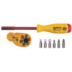 WHT817-38006 - Wiha ToolsInsulated Six In One Driver Bit Sets