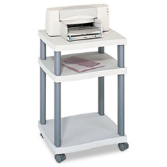 SAF1860GR - Safco® Wave Deskside Printer Stand, 2-Shelf