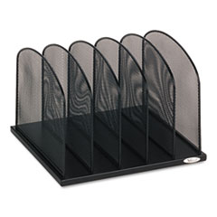 SAF3256BL - Safco® Onyx™ Mesh Desk Organizer with Upright Sections