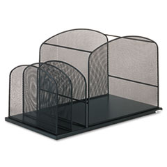 SAF3259BL - Safco® Onyx™ Mesh Desktop Hanging File With Two Upright Sections