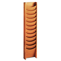 SAF4331MO - Safco® Solid Wood Wall-Mount Literature Display Rack